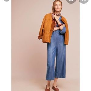 Anthropologie Cloth and Stone Denim Jumpsuit